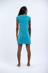 Sure Design Womens Infinitee Ohm Dress Turquoise