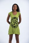 Womens Infinitee Om Dress in Lime