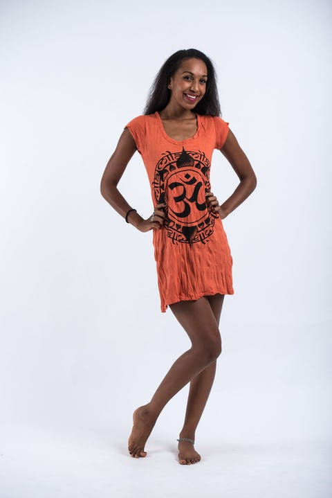 Womens Infinitee Om Dress in Orange