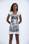 Sure Design Womens Batman Ganesh Dress White