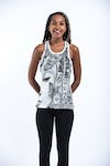 Sure Design Womens Butterfly Buddha Tank Top White
