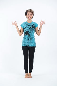 Sure Design Womens Solid T-Shirt Turquoise