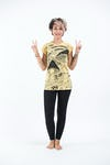Sure Design Womens Magic Mushroom T-Shirt Yellow