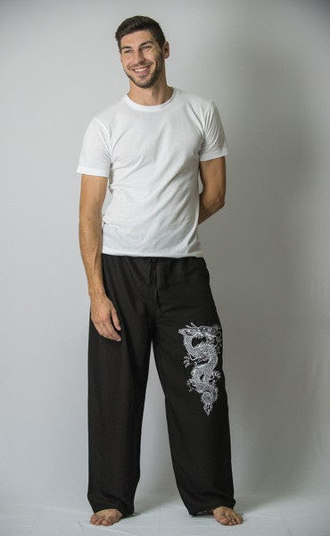 Unisex Black Thai Unisex The Dragon Pants