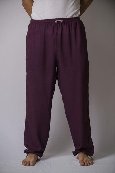 Unisex Dark Purple Super Soft Cotton Yoga Pants