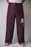 Unisex Purple Thai Unisex Chinese Writing Pants