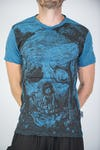 Sure Design Mens Wonderland T-Shirt Denim Blue