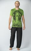 Sure Design Mens Wild Elephant T-Shirt Lime