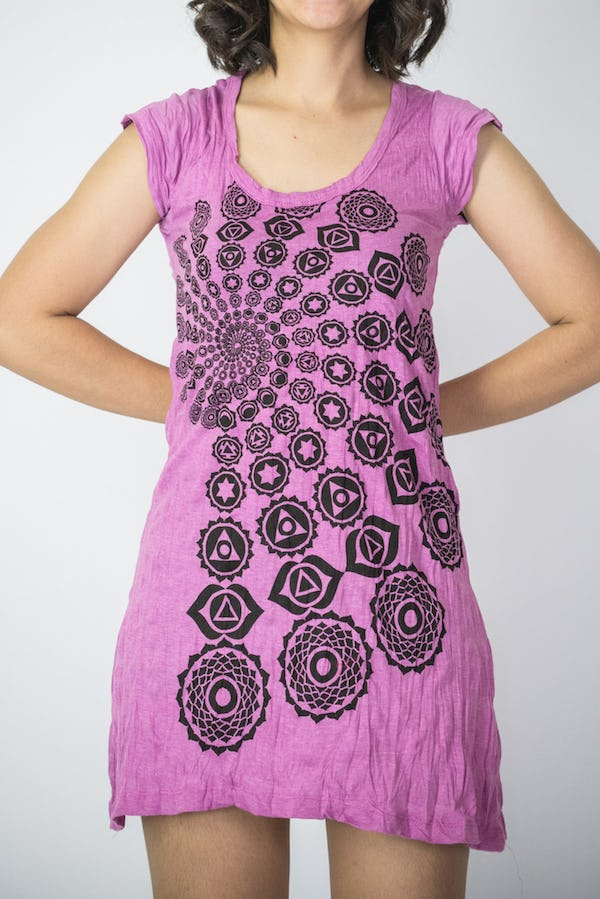 Sure Design Womens Chakra Fractal Dress Pink