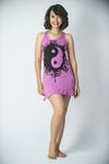 Sure Design Womens Yin Yan Tank Dress Pink