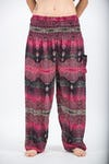 Paisley Unisex Harem Pants in Pink