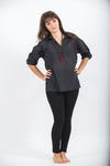 Womens Yoga Shirts Collar V Neck In Black