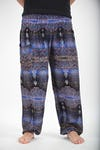 Paisley Unisex Harem Pants in Blue