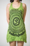 New Sure Design Womens Flower Ohm Tank Dress Lime