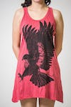 Sure Design Womens Eagle Tank Dress Red