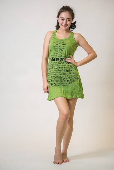 Sure Design Womens Harmony Tank Dress Lime
