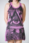 Sure Design Womens Eye Universe Tank Dress Pink
