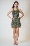 Sure Design Womens Tank Dress Cute Ganesha Green