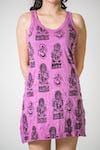 Sure Design Womens Multi Ohm Ganesh Tank Dress Pink