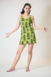 Sure Design Womens Multi Ohm Ganesh Tank Dress Lime