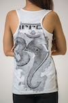 Mirror Sure Design Women's Tank Top Ganesha Ohm White