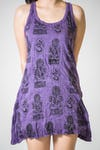Sure Design Womens Multi Ohm Ganesh Tank Dress Purple