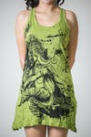 Sure Design Womens Ganesh Painting Tank Dress Lime