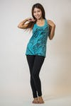 Sure Design Womens Cute Ganesh Tank Top Turquoise