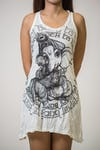 Sure Design Womens Baby Ganesh Tank Dress White
