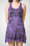 Sure Design Womens Batman Ganesh Tank Dress Purple