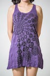 Sure Design Womens Chakra Fractal Tank Dress Purple