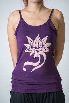 Cotton Spandex Super Soft Women's Tank Top Lotus Blossom Purple