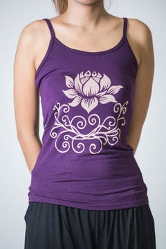 Cotton Spandex Super Soft Women's Tank Top Lotus OM Olive