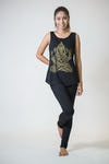 Super Soft Womens Classic Ganehsa Tank Top Gold on Black