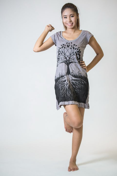 Sure Design Womens Tree of Life Dress Grey