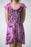 Sure Design Womens Butterfly Buddha Dress Pink