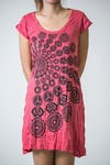 Sure Design Womens Chakra Fractal Dress Red