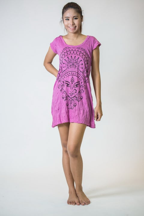 Sure Design Womens Durga Kali Dress Pink