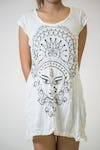 Sure Design Womens Durga Kali Dress White