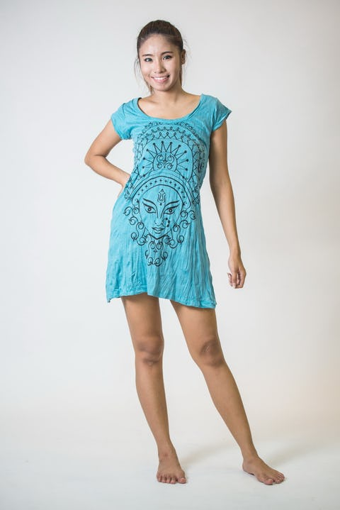 Womens Durga Dress in Turquoise