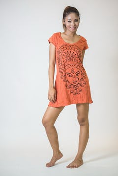Womens Octopus Tank Top in Orange