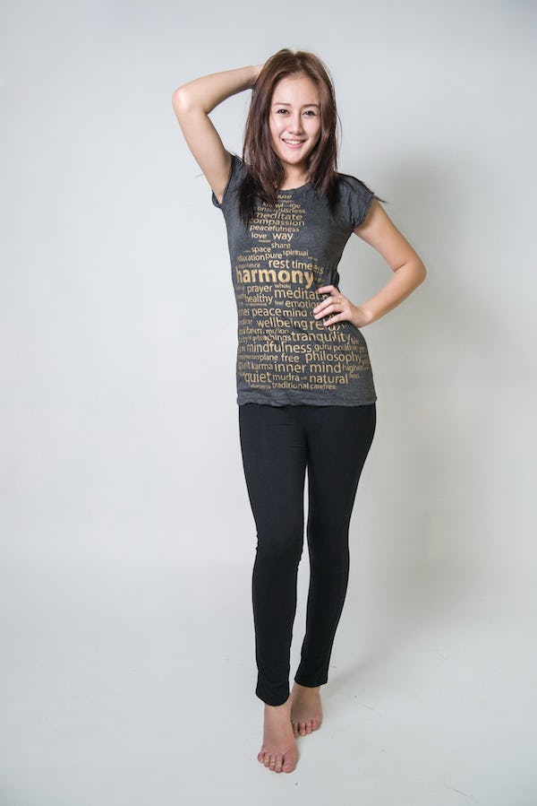 Sure Design Womens Harmony T-Shirt Gold on Black
