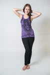 Sure Design Womens Three Hands Tank Top Purple