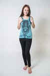 Sure Design Womens Three Hands Tank Top Turquoise