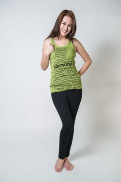Sure Design Womens Infinitee Yoga Stamp Tank Top Lime