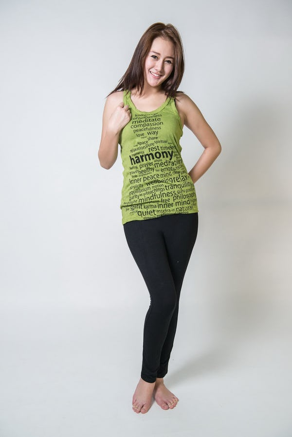 Womens Harmony Tank Top in Lime