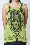 Sure Design Womens Three Hands Tank Top Lime