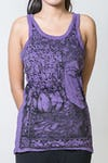 Sure Design Womens Sanskrit Buddha Tank Top Purple