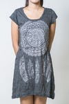 Sure Design Womens Dreamcatcher Dress Silver on Black