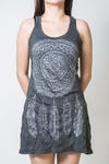 Sure Design Womens Tank Dress Dreamcatcher Silver on Black